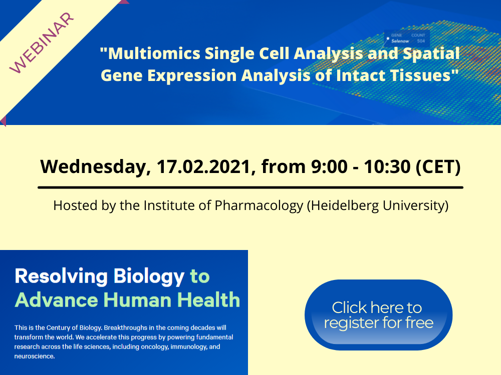 Webinar - Multiomics Single Cell Analysis and Spatial Gene Expression Analysis of Intact Tissues